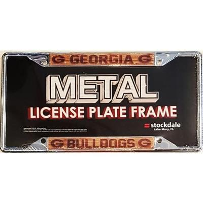 Georgia License Plate Frame Wood Grain