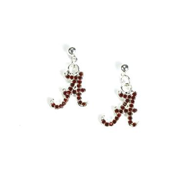 Alabama Rhinestone A Earrings