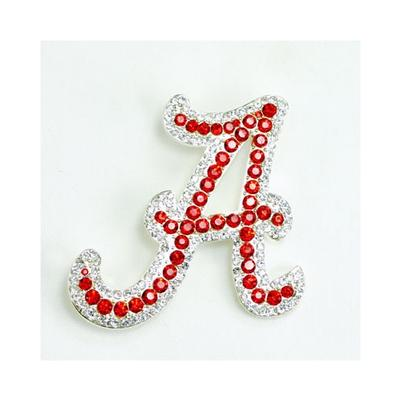 Alabama Rhinestone A Pin