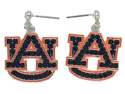 Auburn Rhinestone Earrings