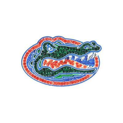 Florida Rhinestone Gator Head Pin