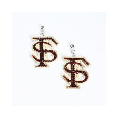 Florida State Rhinestone FS Earrings