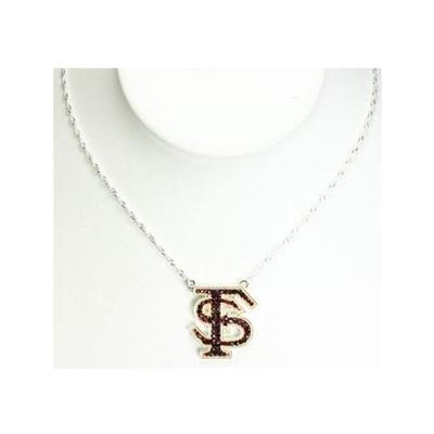 Florida State Rhinestone FS Necklace