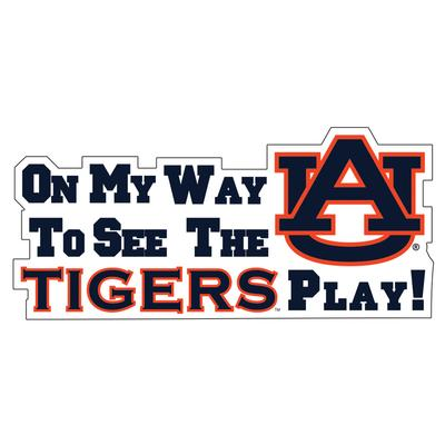Auburn Tigers Car Magnet On My Way to See the Tigers Play 16