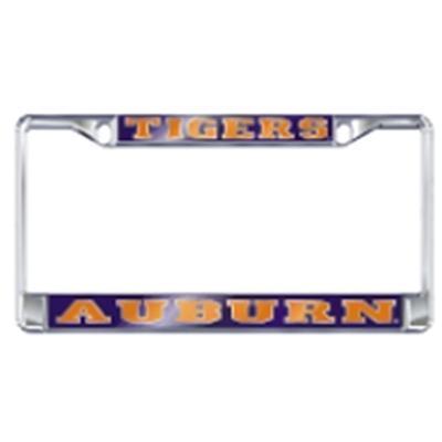 Auburn License Plate Frame Silver