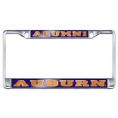 Auburn License Plate Frame Alumni Silver