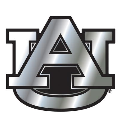 Auburn Car Magnet Chrome AU Logo 3