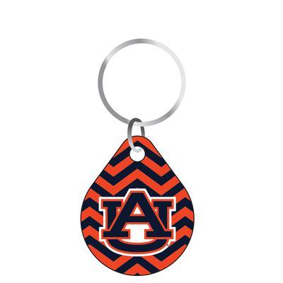Auburn Chevron Keychain