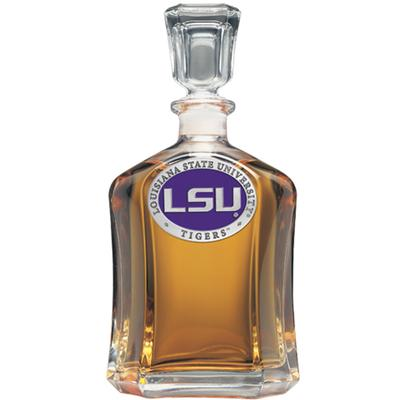 LSU Heritage Pewter Capital Decanter