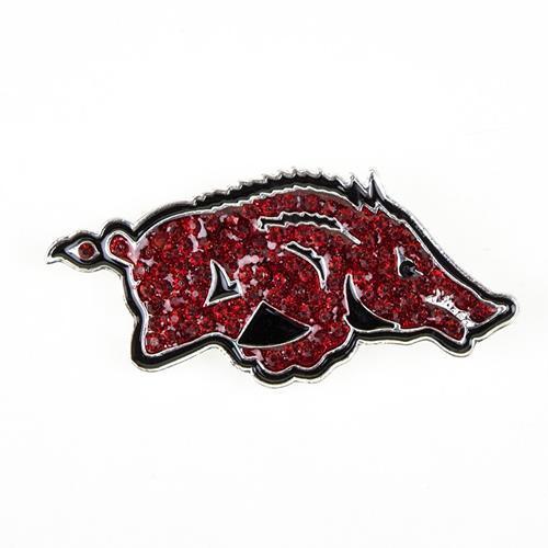 Arkansas Crystal Razorback Pin