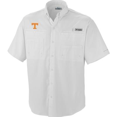 Tennessee Columbia Tamiami Short-Sleeve Shirt WHITE
