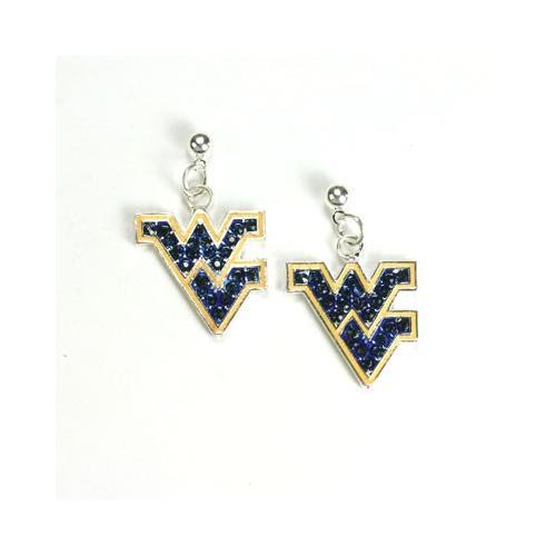 West Virginia Jewelry Rhinestone Earrings