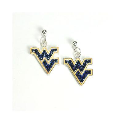 West Virginia Jewelry Rhinestone Earrings