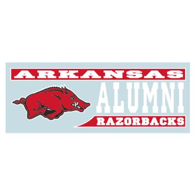 Arkansas Razorbacks ALUMNI Block Decal 6