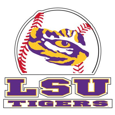 LSU Decal Tigers Baseball 4