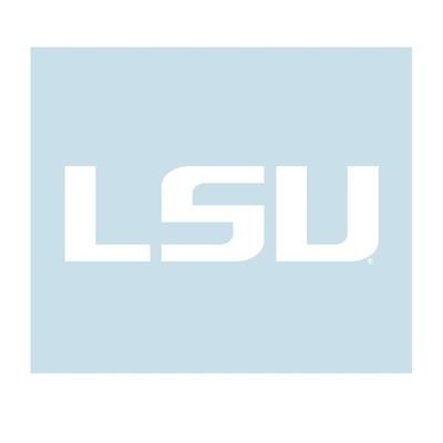 LSU Decal White LSU Logo 3
