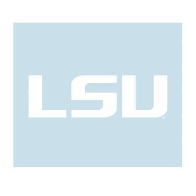 LSU Decal White LSU Logo 6