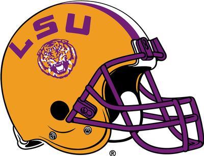 LSU Decal Football Helmet 3