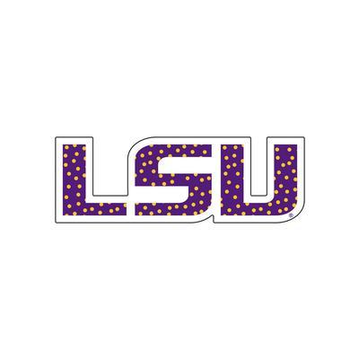 LSU Decal Dot Filled LSU Logo 3