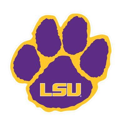 LSU Decal Tiger Paw 3