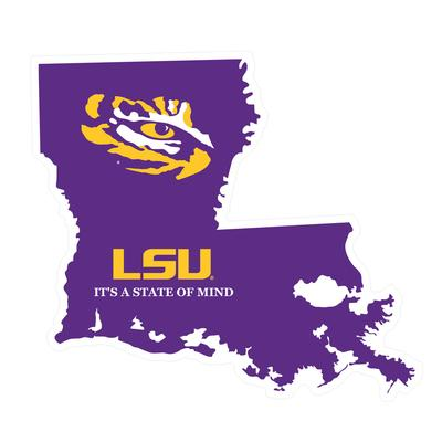 LSU Decal LA State of Mind 4