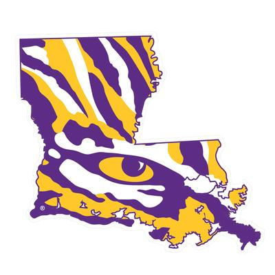 LSU Decal State Outline/Tiger Eye 4
