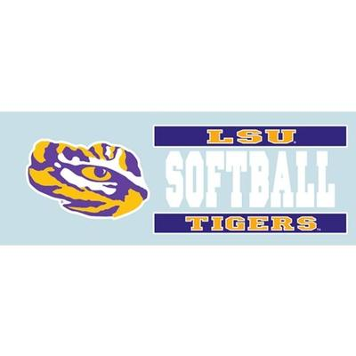 LSU Decal Softball Block 6