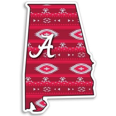 Alabama State Aztec Fill Decal 6