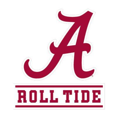 Alabama Roll Tide Script A Decal 6
