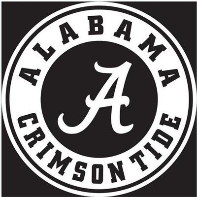 Alabama White Circle A Logo Decal 6
