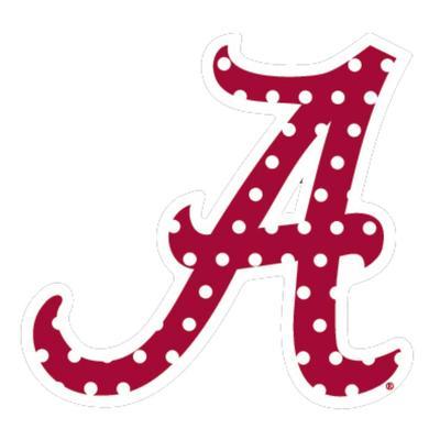 Alabama Red Polka Dot A Decal 6