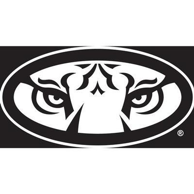 Auburn Decal White Tiger Eyes Logo 12