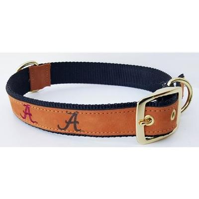 Alabama Leather Dog Collar
