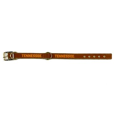 Tennessee Embroidered Leather Dog Collar