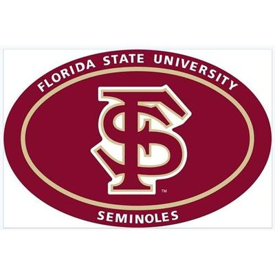 Florida State FS Logo Oval Decal 6