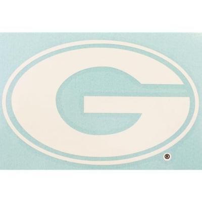 Georgia Decal White Power G Logo 3