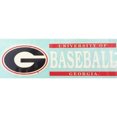 Georgia Decal Baseball Block 6