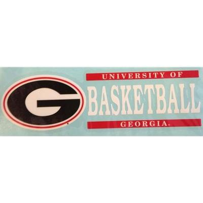 Georgia Basketball Vinyl Decal