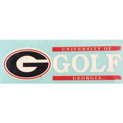 Georgia Decal Golf Block 6
