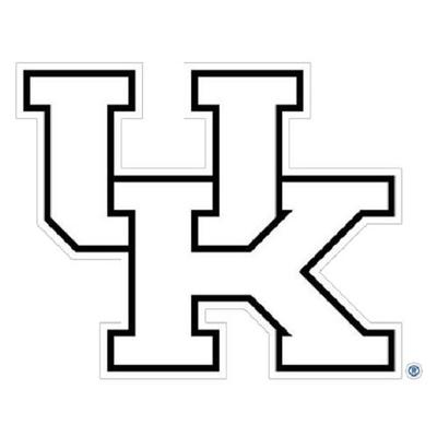 Kentucky White UK Logo Decal 6