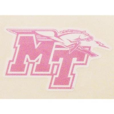 MTSU Decal Pink MT Mascot Logo 3