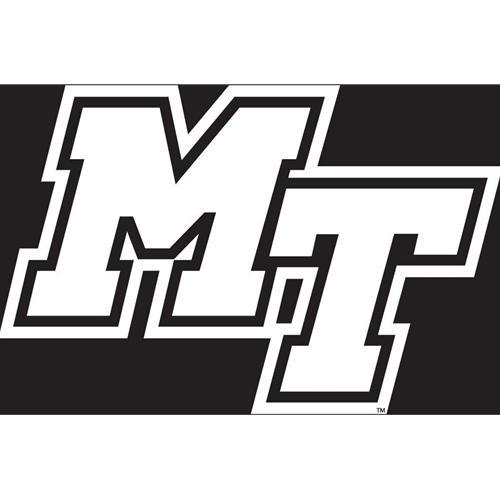 Mtsu Decal White Mt Logo 6