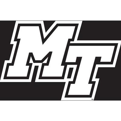 MTSU Decal White MT Logo 6