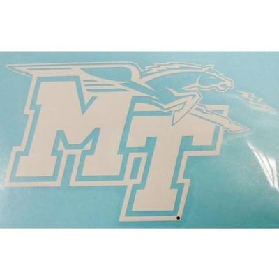 MTSU Decal White MT Mascot Logo 6