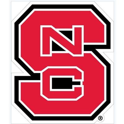 NC State NCS Block Logo Decal 12