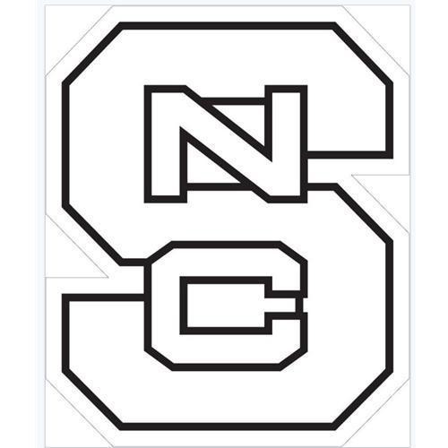 Nc State Logo White Decal 3