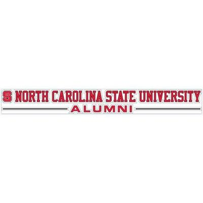 NC State University Alumni Strip Decal 20