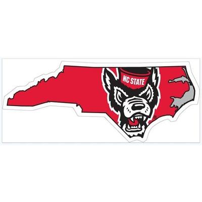 NC State Wolfie State Outline Decal 6