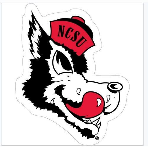 Nc State Retro Wolfie Decal 12
