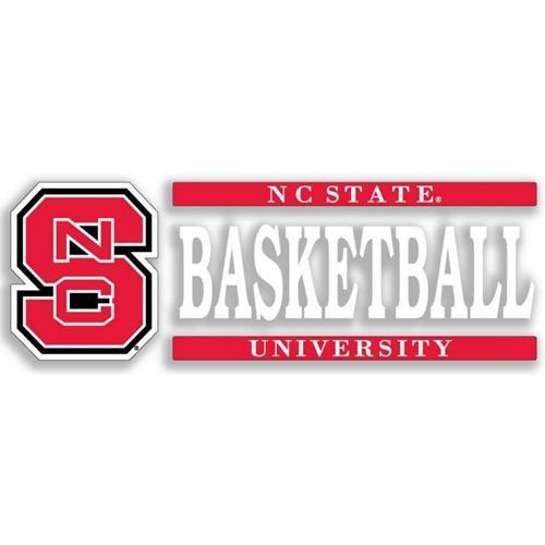 Nc State Basketball Strip Decal 6